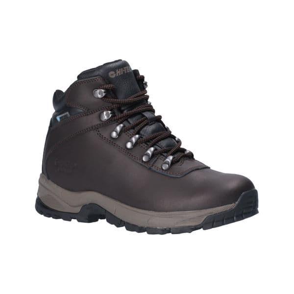 Hi-Tec Eurotrek Lite Waterproof Womens Ladies Hiking Boots Dark Chocolate